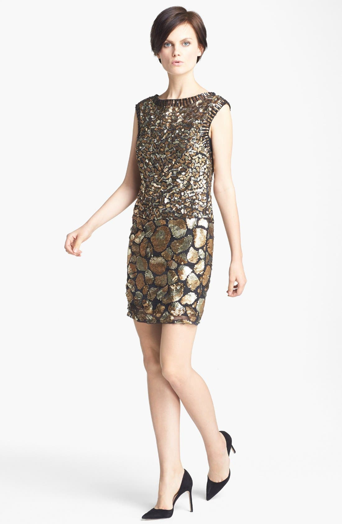 Main Image - Tracy Reese Cheetah Detail Sequin Dress