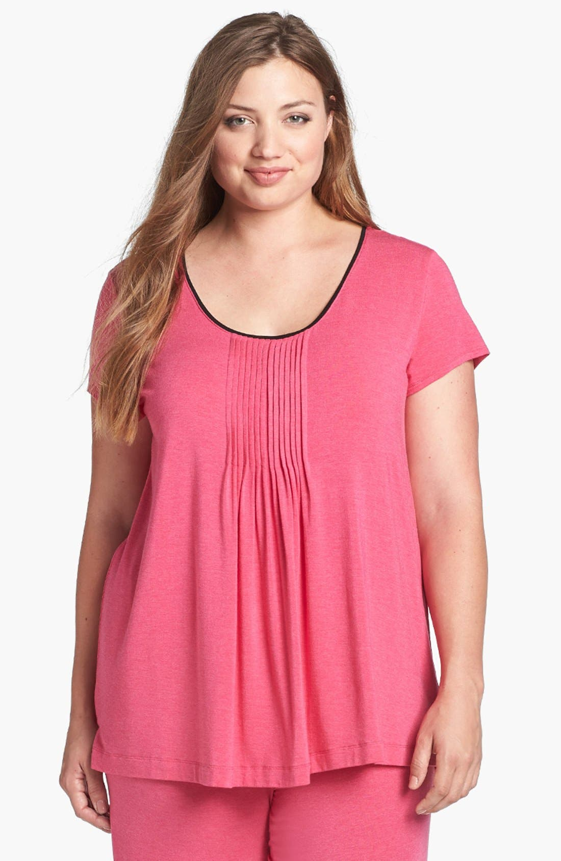 Main Image - DKNY '7 Easy Pieces' Pintuck Top (Plus Size)