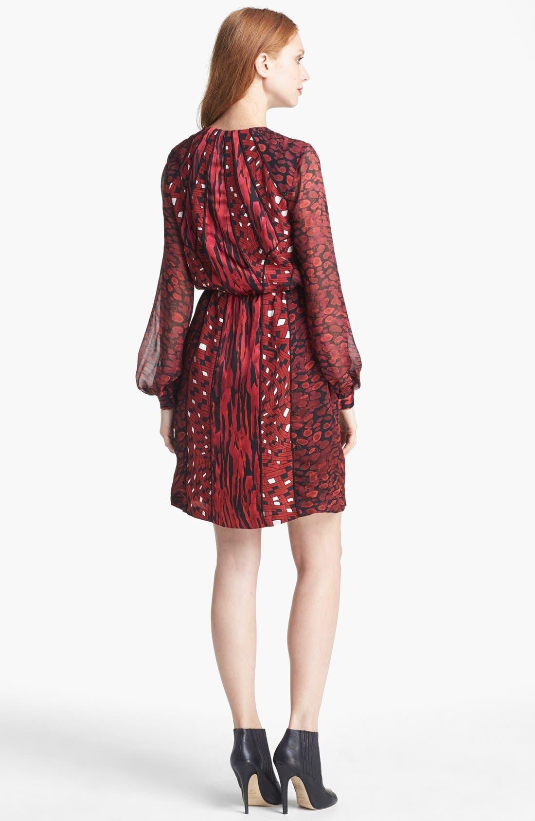 Alternate Image 2  - Diane von Furstenberg 'Kit' Print Silk Blouson Dress