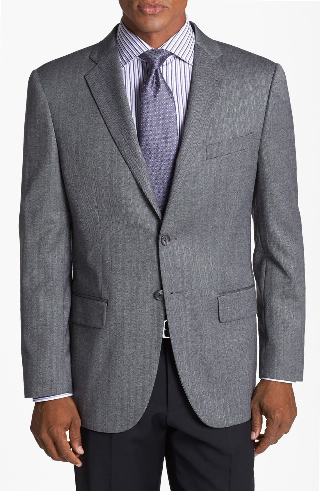 Alternate Image 1 Selected - Joseph Abboud 'Profile/Hybrid' Trim Fit Herringbone Sportcoat