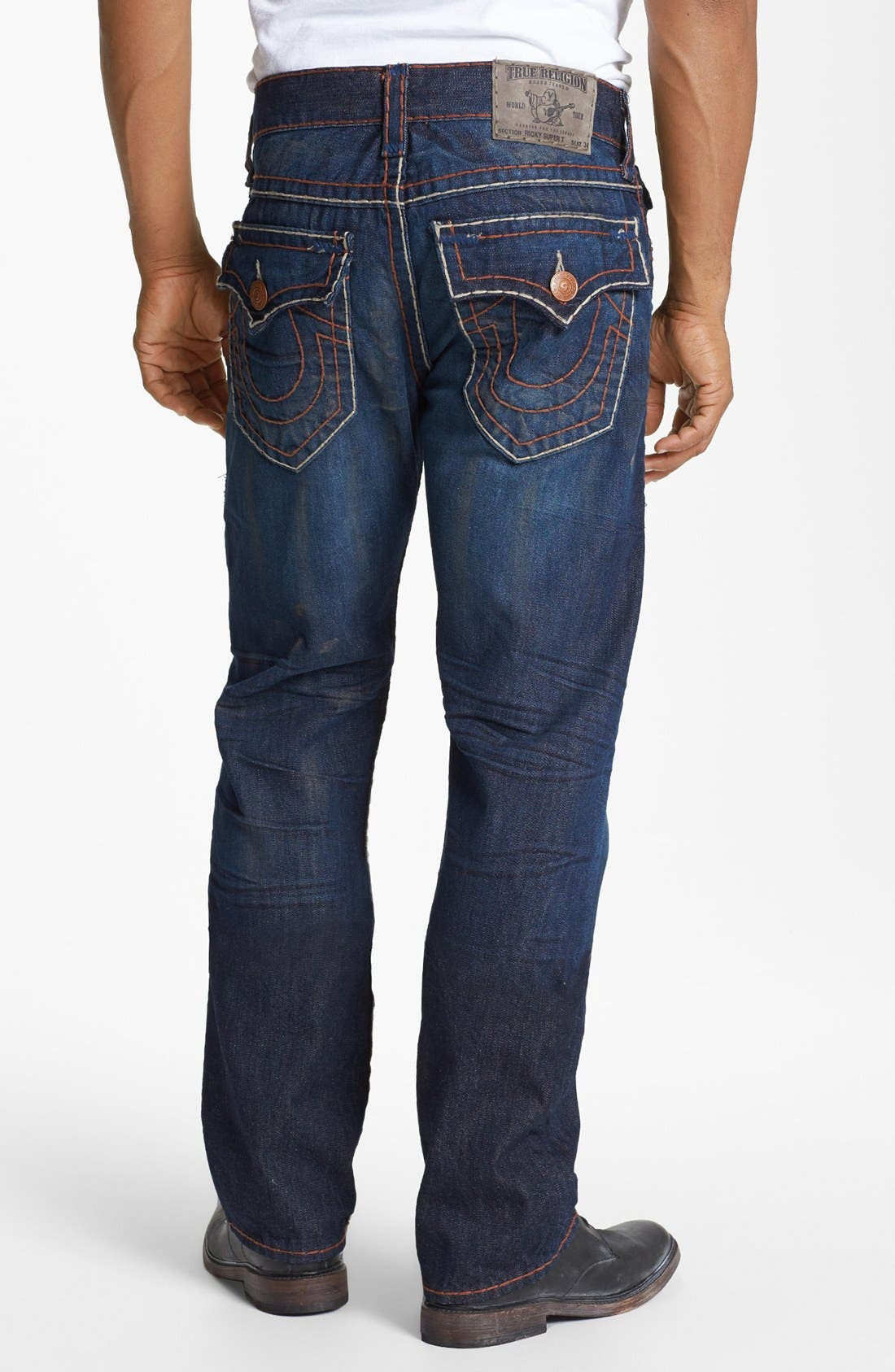 Alternate Image 1 Selected - True Religion Brand Jeans 'Ricky' Straight Leg Jeans (Hideout)