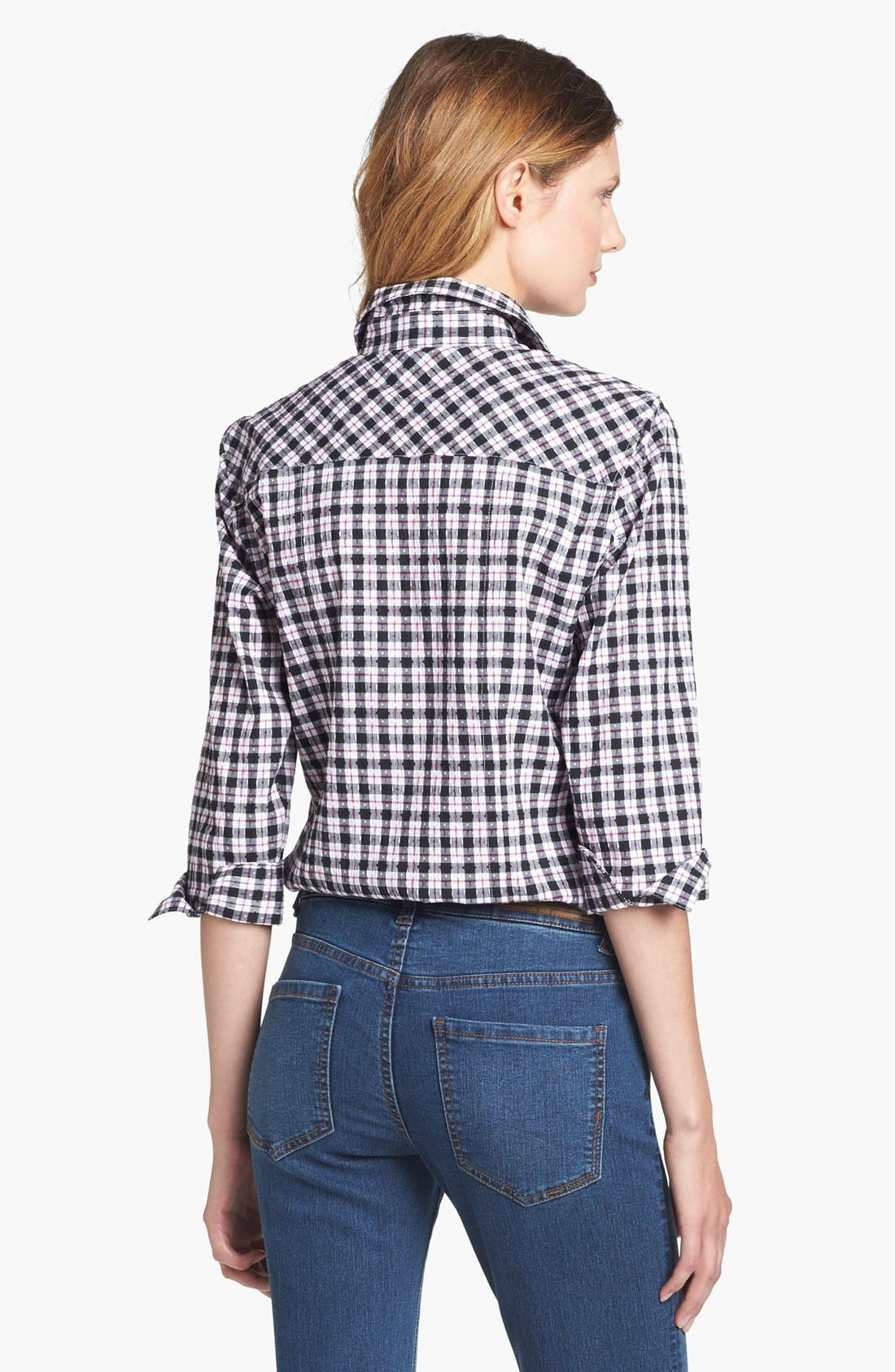 Alternate Image 2  - Foxcroft Check Stretch Cotton Shirt