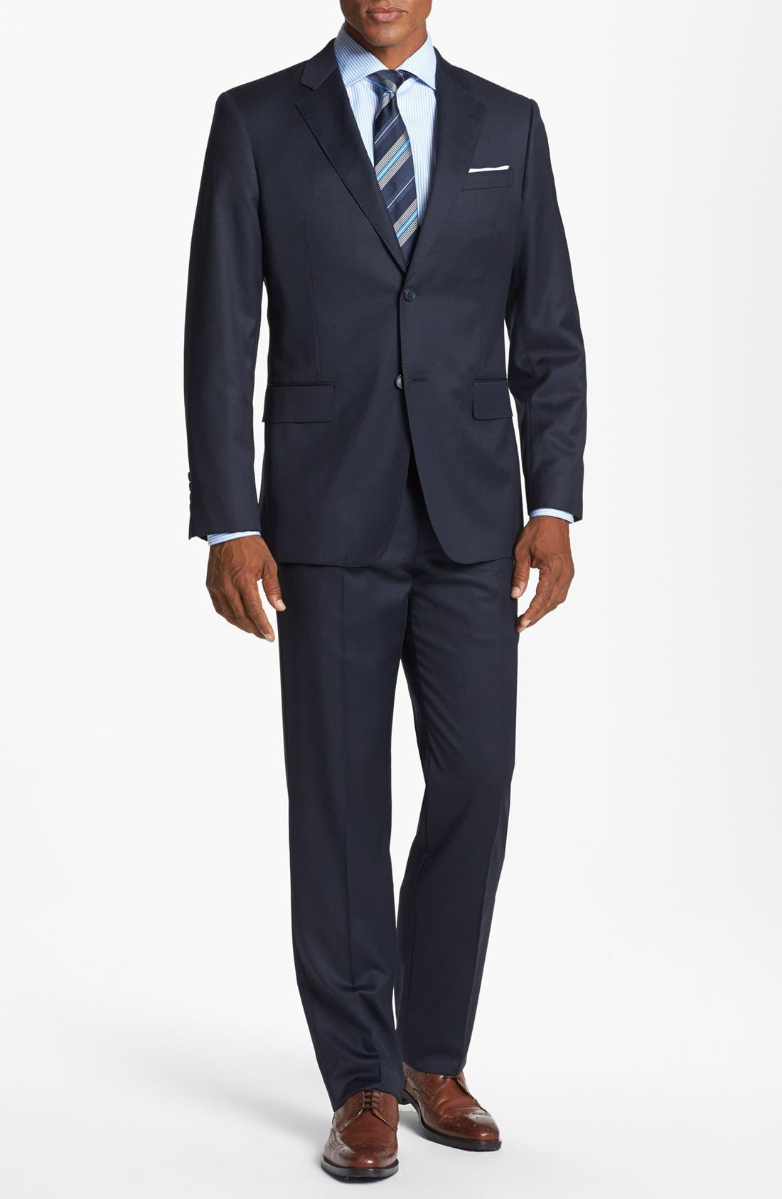 Main Image - John W. Nordstrom® Classic Fit Check Wool Suit