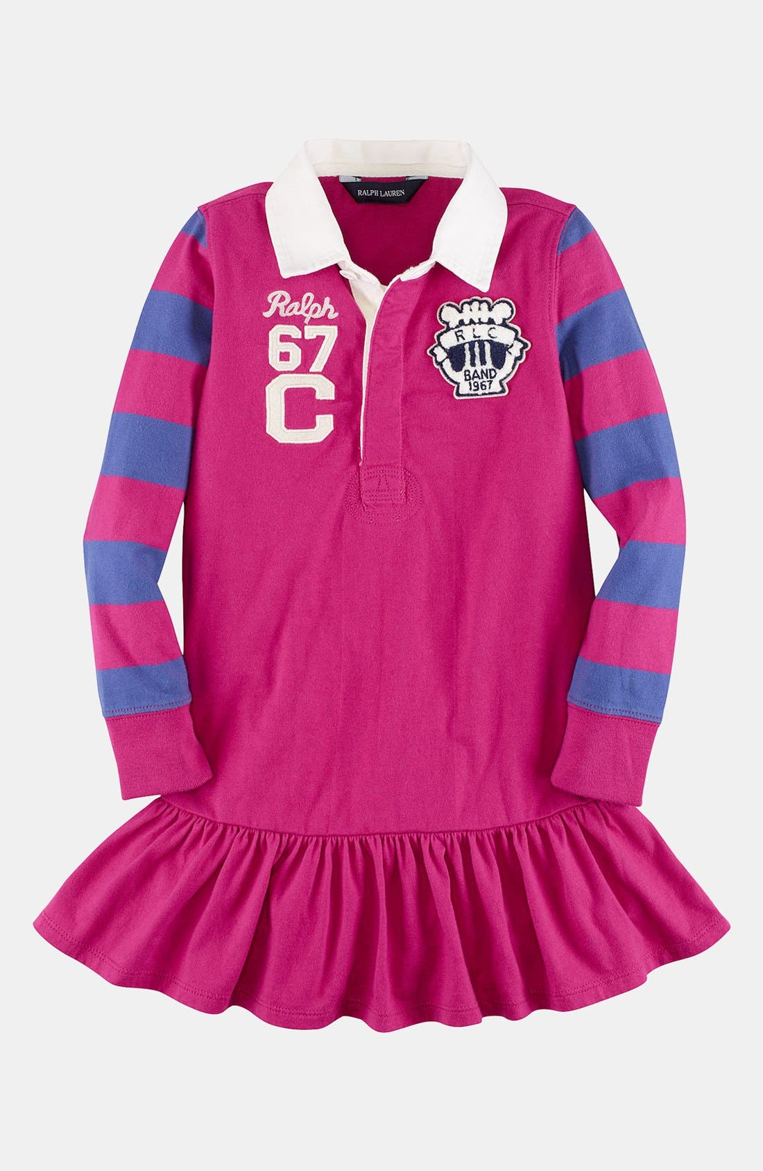 Alternate Image 1 Selected - Ralph Lauren Rugby Dress (Toddler Girls)
