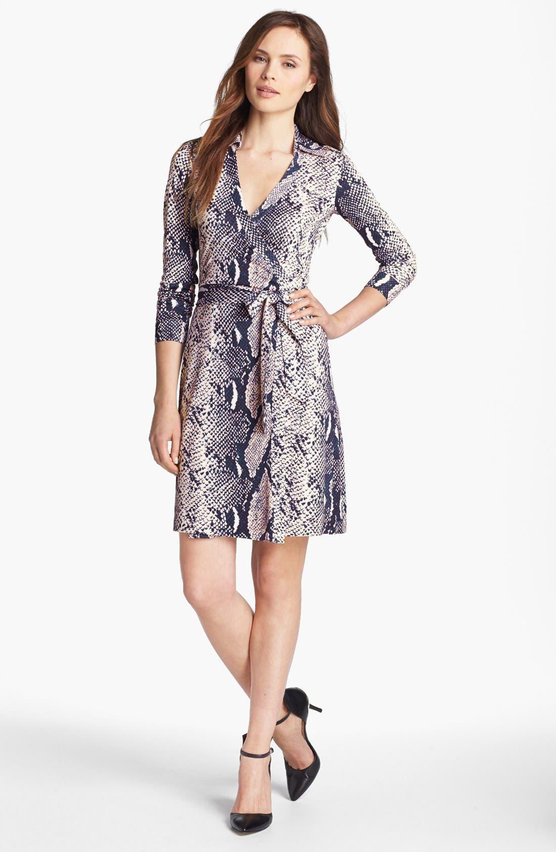 Alternate Image 1 Selected - Diane von Furstenberg 'New Jeanne 2' Silk Jersey Wrap Dress