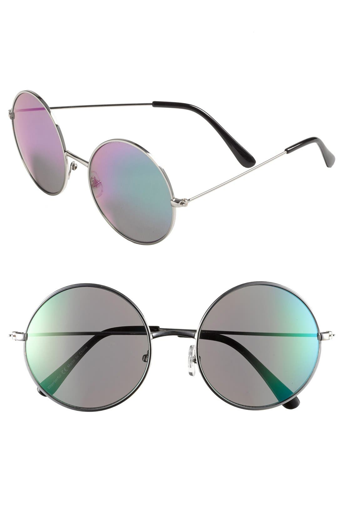Alternate Image 1 Selected - Leith 'Flash' Round Sunglasses