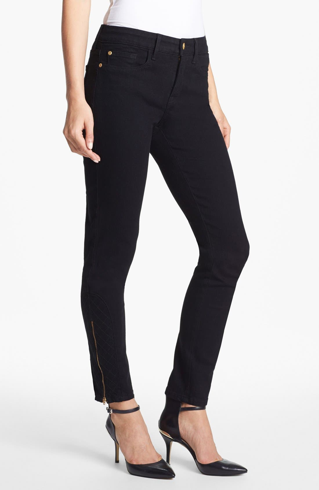 Alternate Image 1 Selected - NYDJ 'Arabella' Ankle Zip Stretch Skinny Jeans