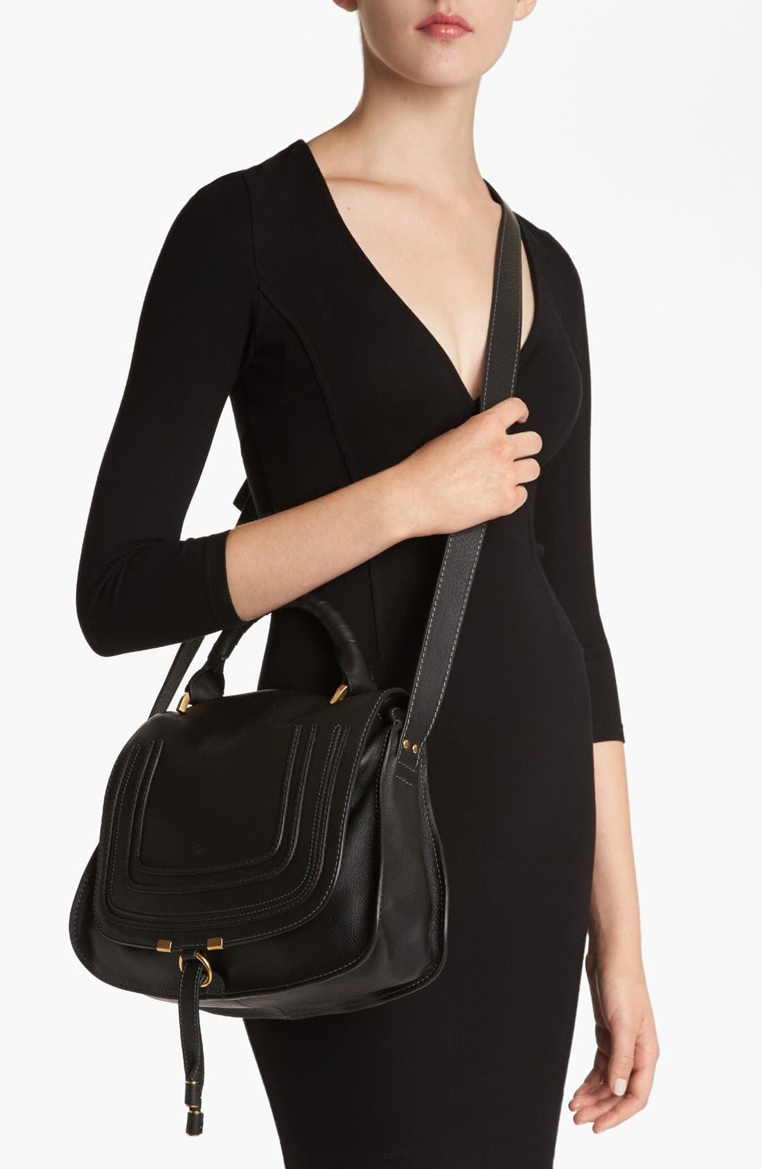 Alternate Image 2  - Chloé 'Marcie' Top Handle Leather Satchel