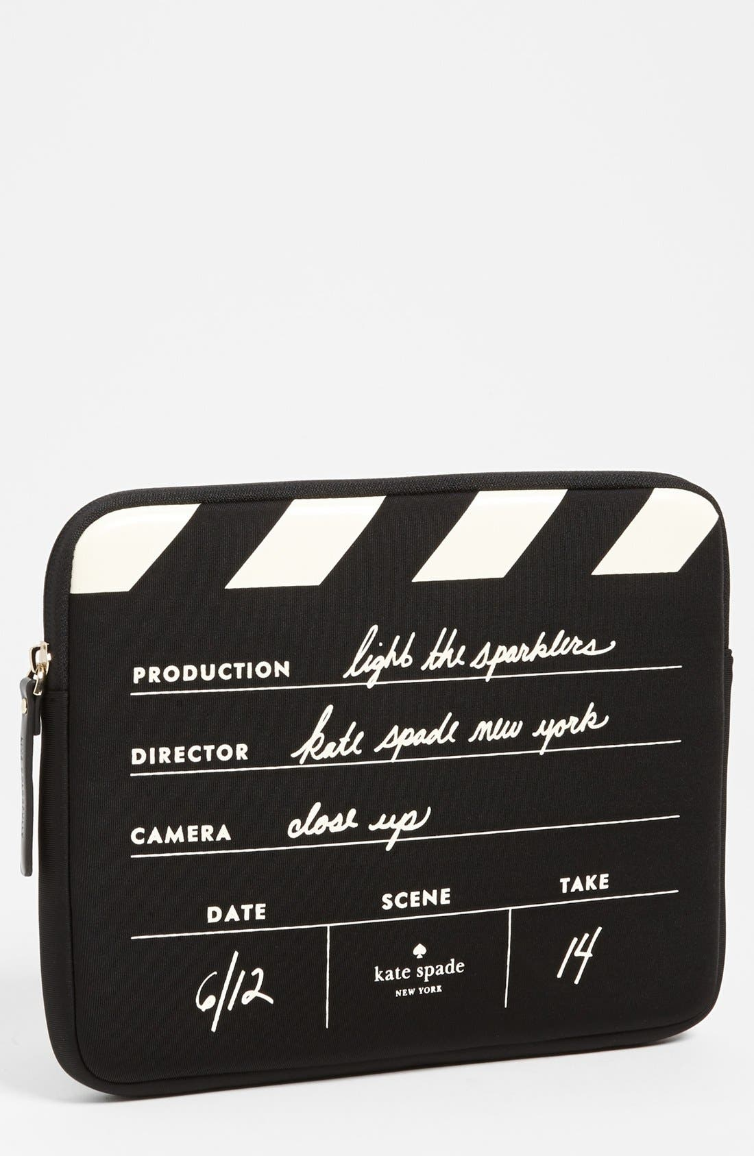 Main Image - kate spade new york 'director's clapboard' iPad sleeve