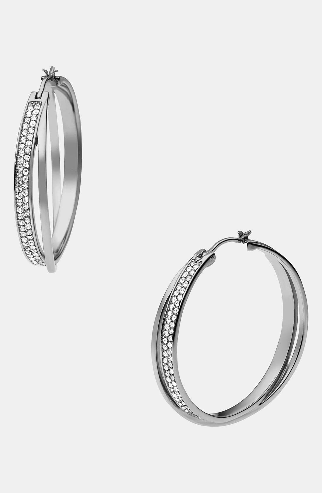 Alternate Image 1 Selected - Michael Kors 'Brilliance' Hoop Earrings