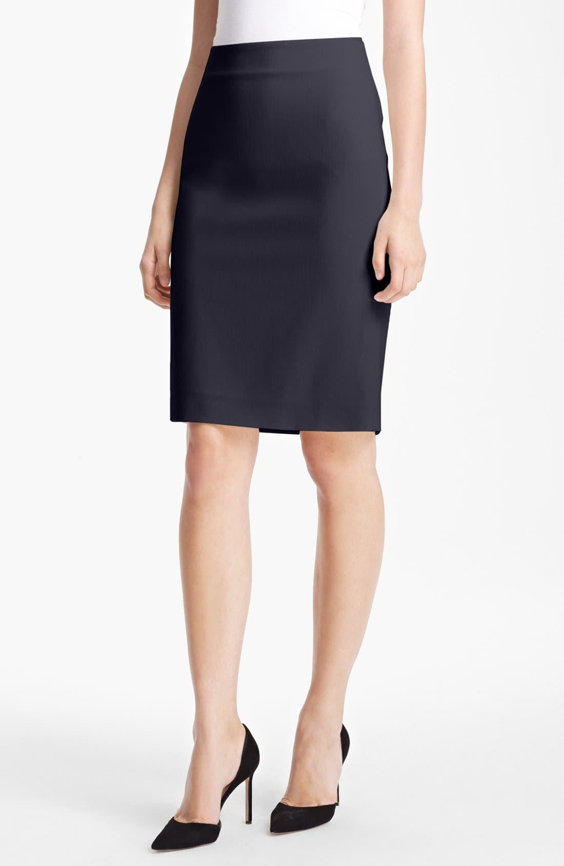 Main Image - Max Mara 'Tebano' Stretch Wool Pencil Skirt