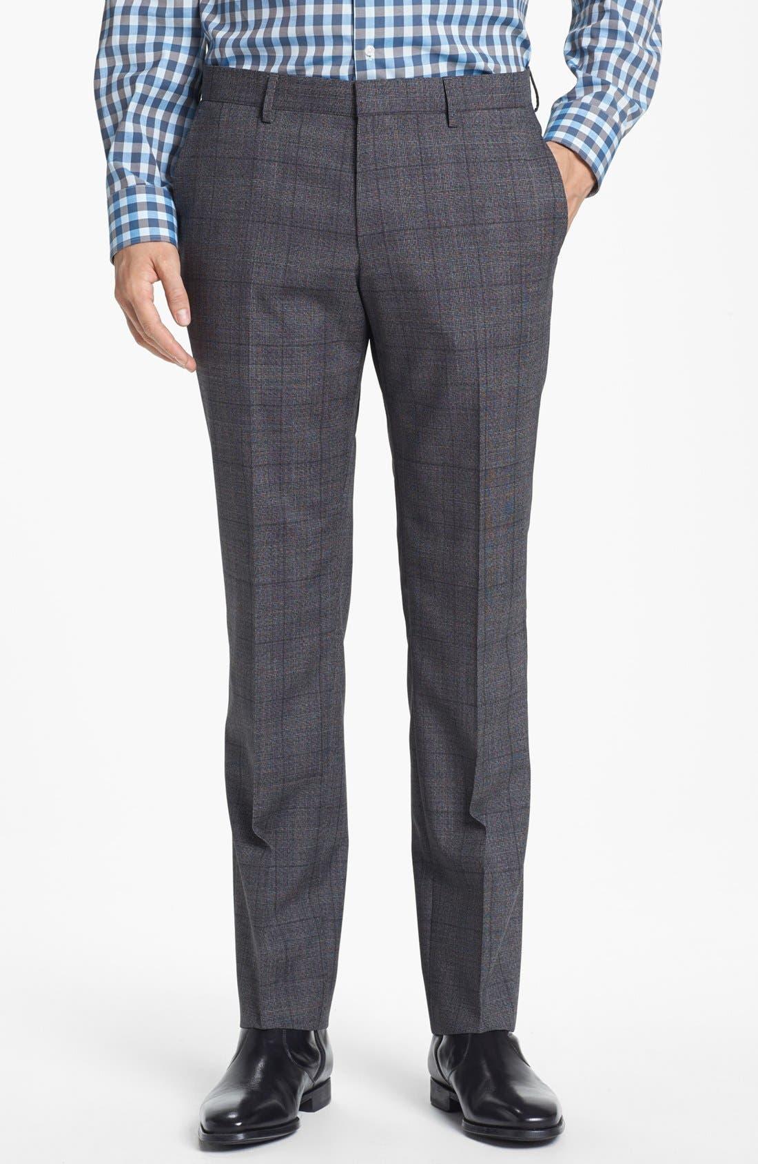 Alternate Image 5  - BOSS HUGO BOSS 'Huge/Genius' Trim Fit Plaid Suit