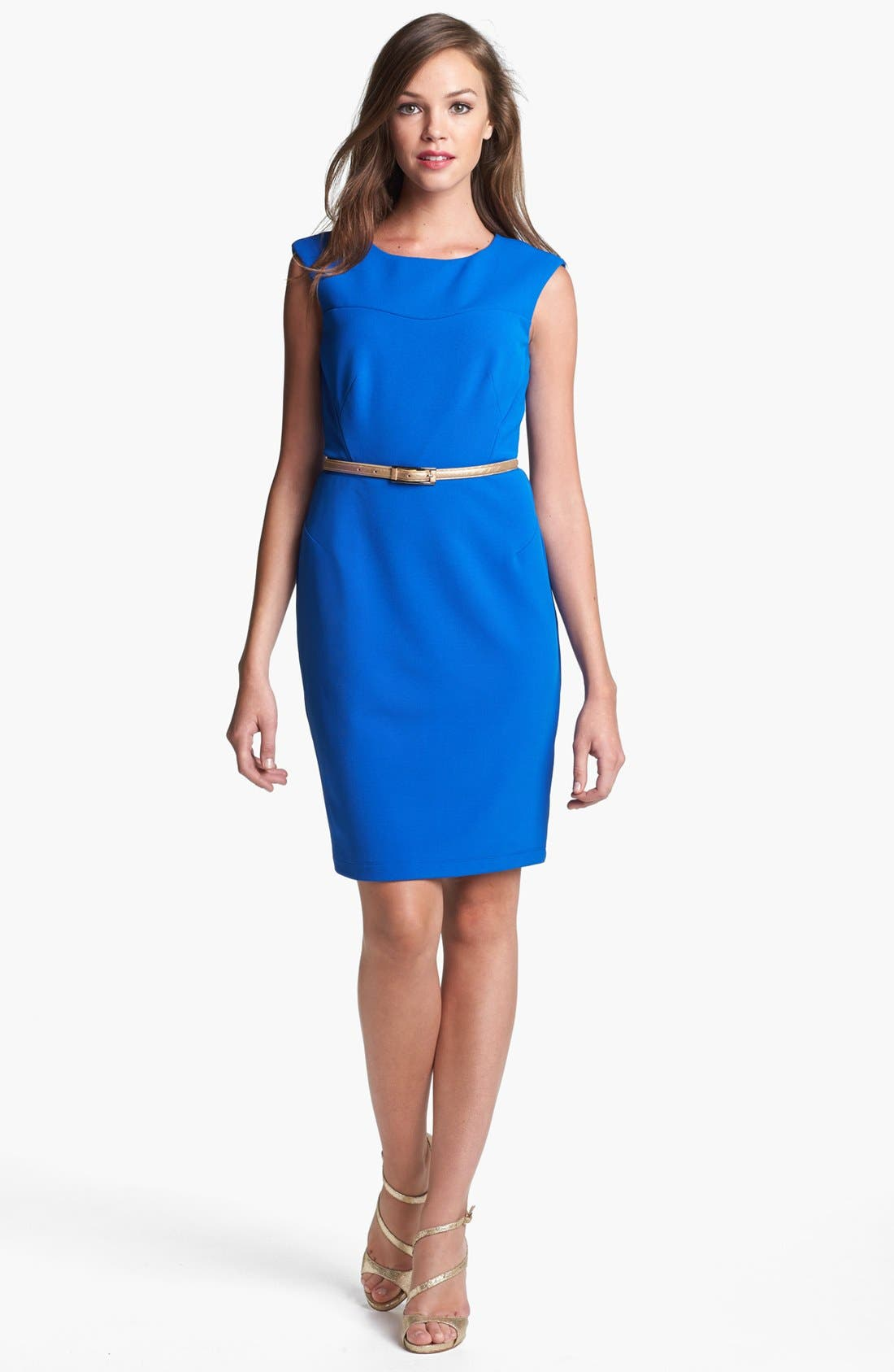 Alternate Image 1 Selected - Donna Ricco Belted Sheath Dress
