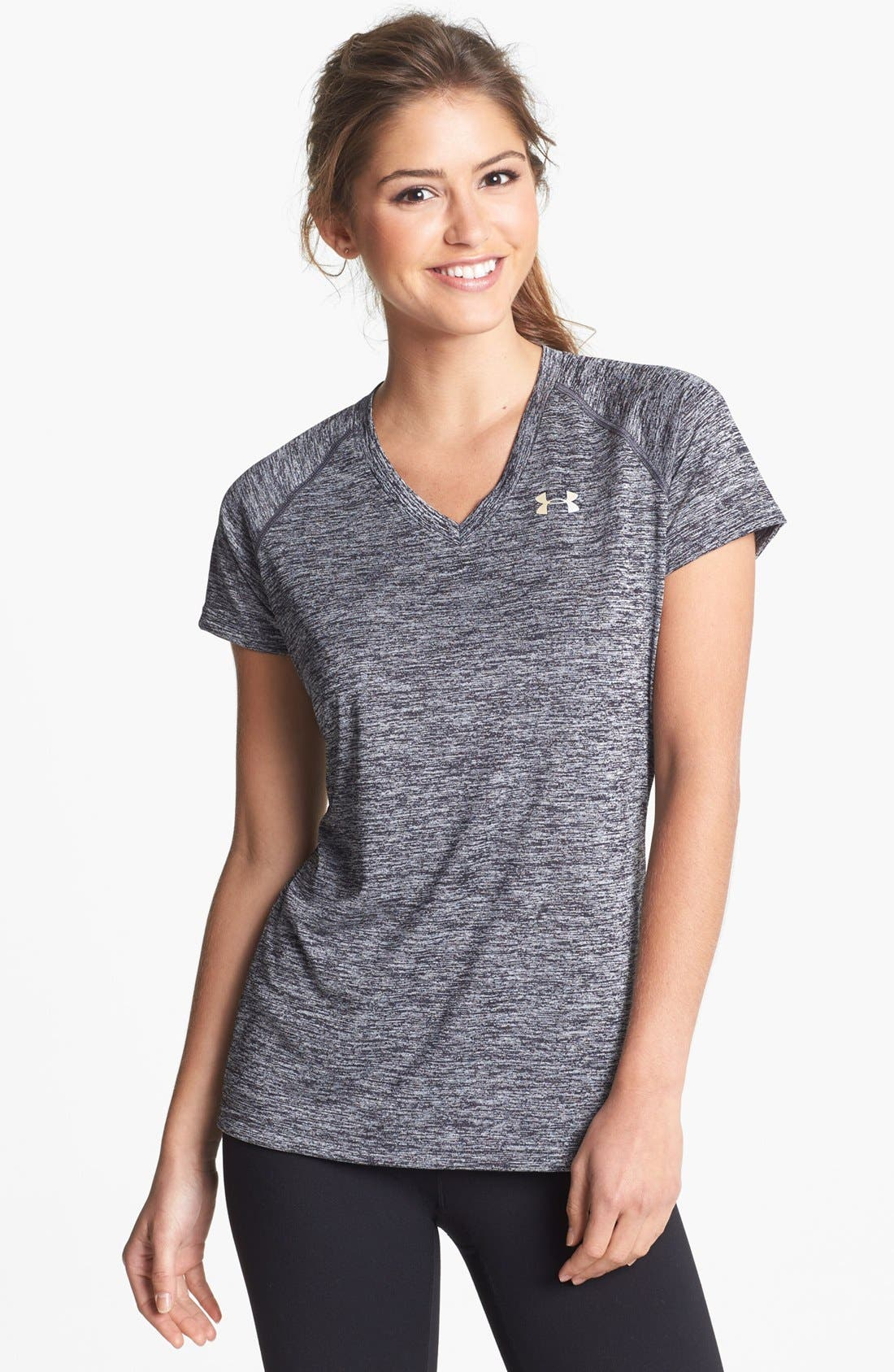 Alternate Image 1 Selected - Under Armour 'Twisted Tech' Short Sleeve Tee