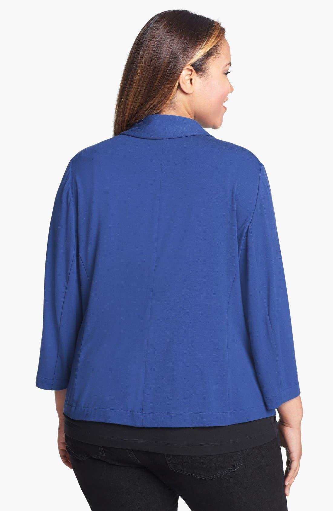 Alternate Image 2  - Sejour 'Siro' Shawl Collar Jacket (Plus Size)
