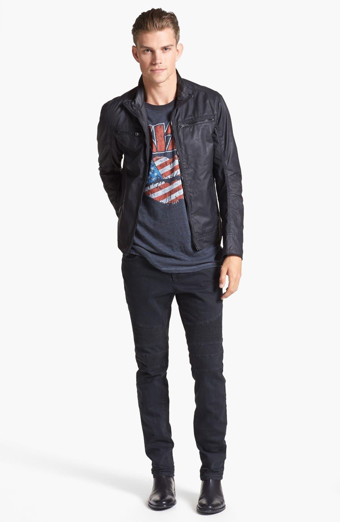 Alternate Image 4  - Rogue Coated Moto Jacket