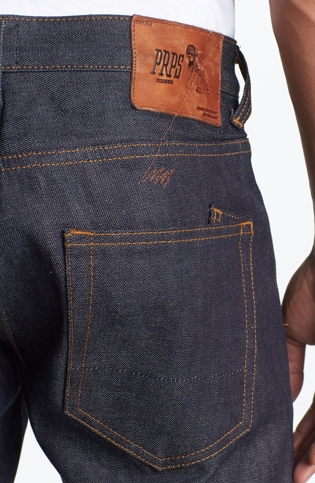 Alternate Image 4  - PRPS 'Barracuda' Straight Leg Selvedge Jeans (Raw)