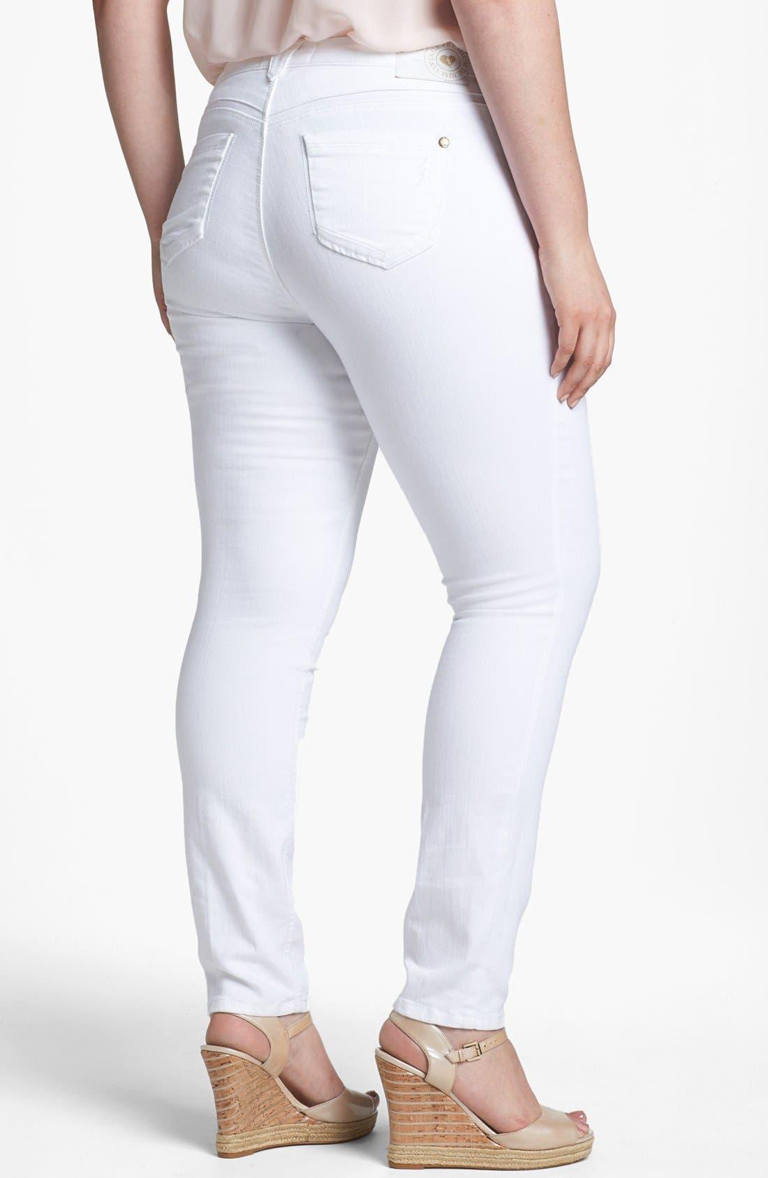 Alternate Image 2  - Jolt Stretch Jeans (Juniors Plus)