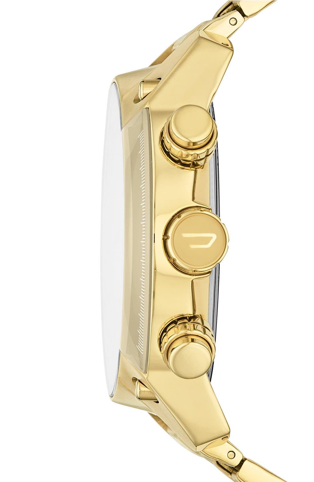 Alternate Image 3  - DIESEL® 'Overflow' Chronograph Bracelet Watch, 46mm x 49mm
