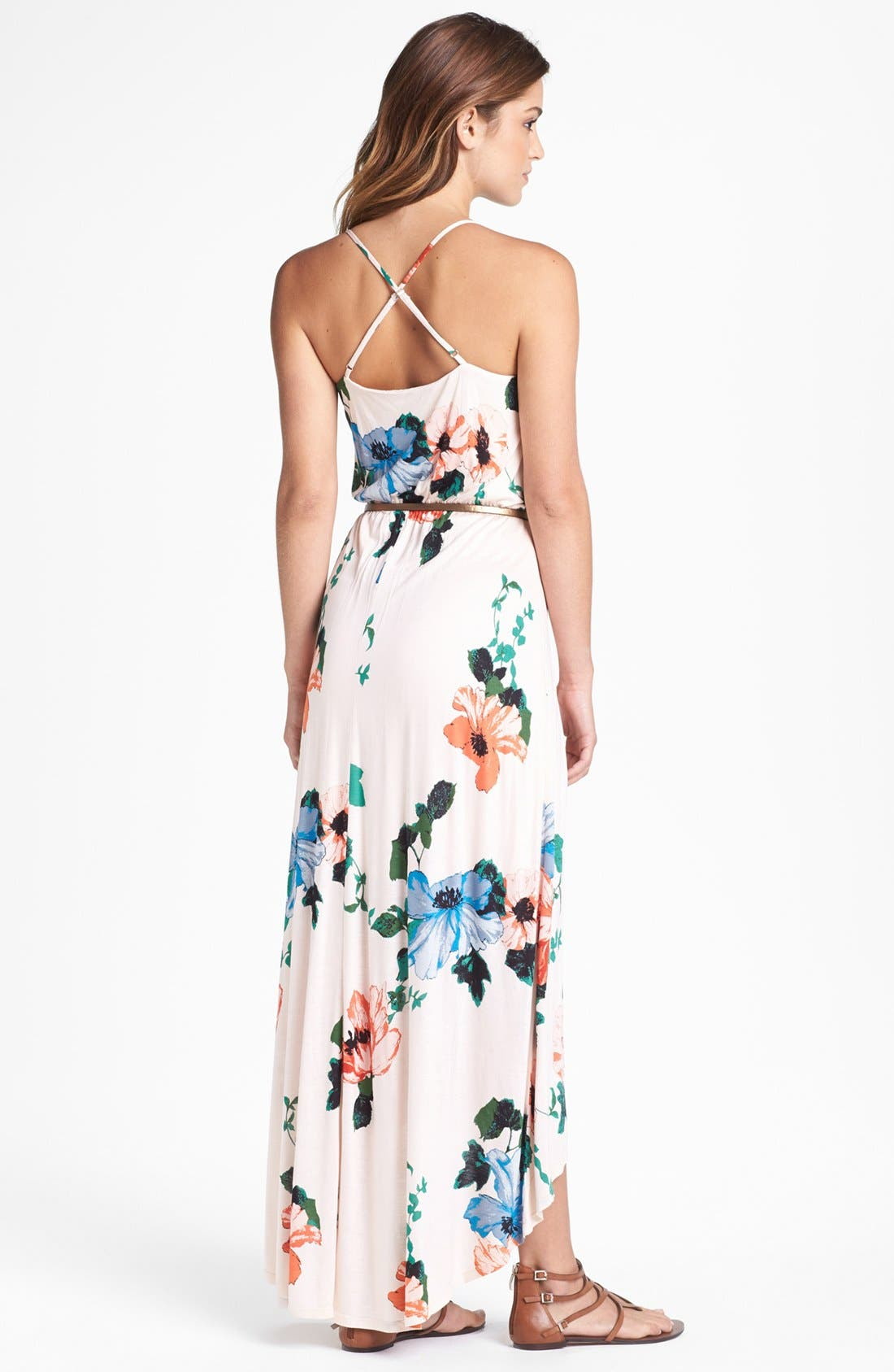 Alternate Image 2  - Felicity & Coco Hawaiian Print Belted Maxi Dress (Petite) (Nordstrom Exclusive)