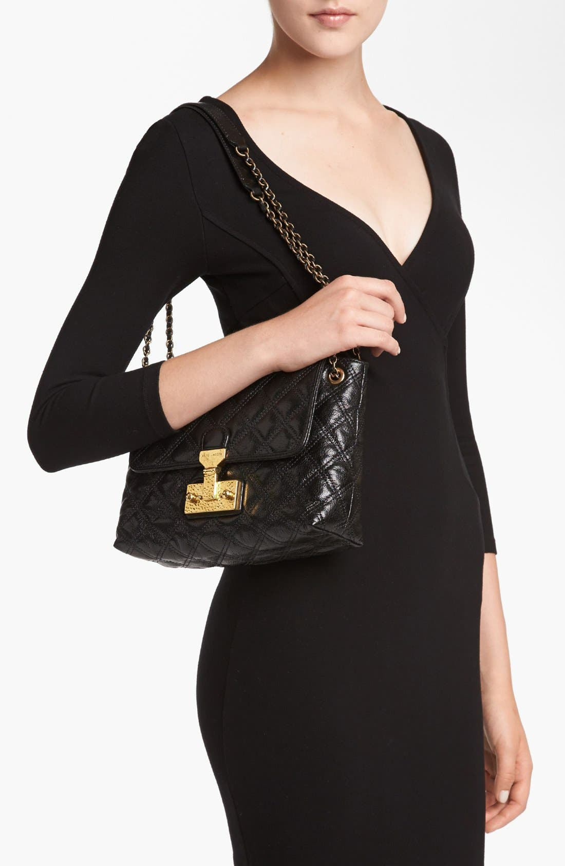 Alternate Image 2  - MARC JACOBS 'Baroque Single - Large' Leather Shoulder Bag