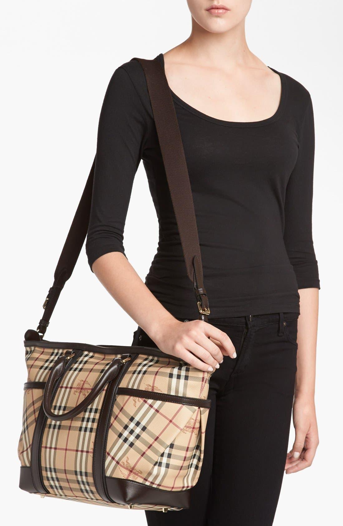 Alternate Image 2  - Burberry Check Diaper Bag