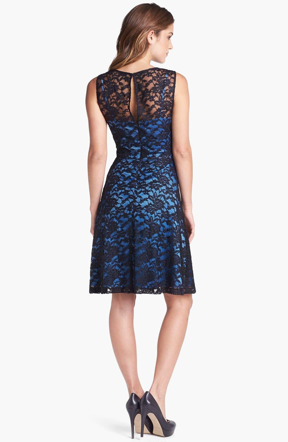 Alternate Image 2  - Ivy & Blu Lace Fit & Flare Dress