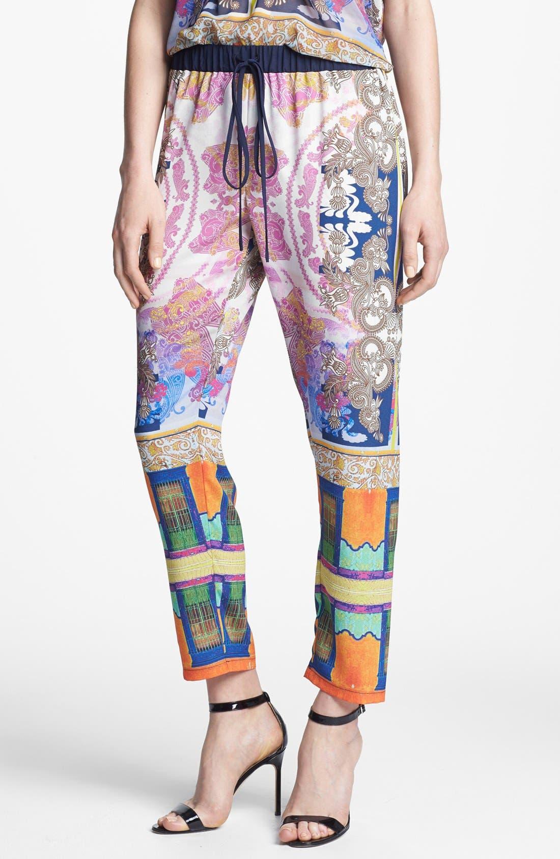 Alternate Image 1 Selected - Clover Canyon 'Palace Interior' Print Crop Pants