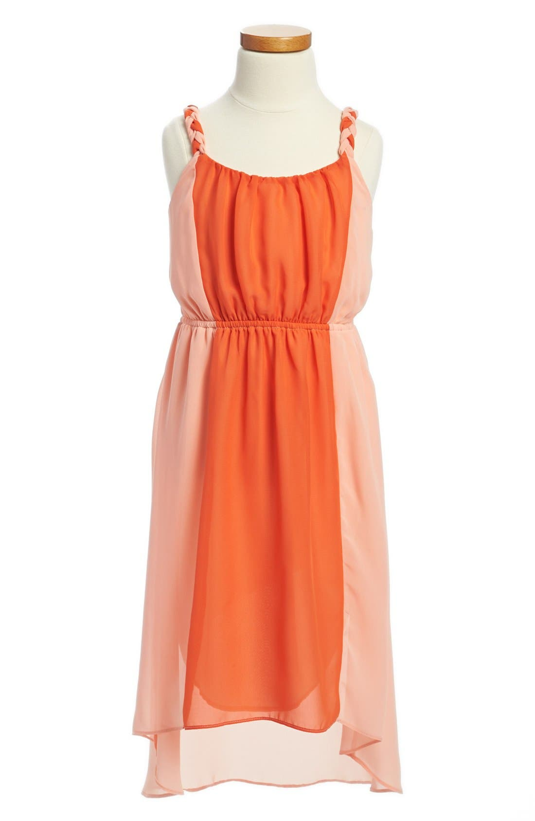 Main Image - Soprano Colorblock High/Low Dress (Big Girls)