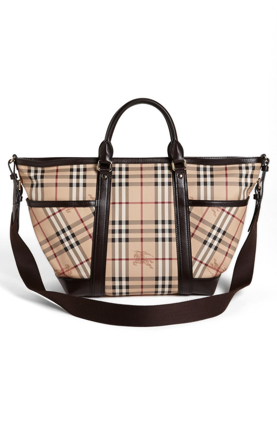 Alternate Image 4  - Burberry Check Diaper Bag