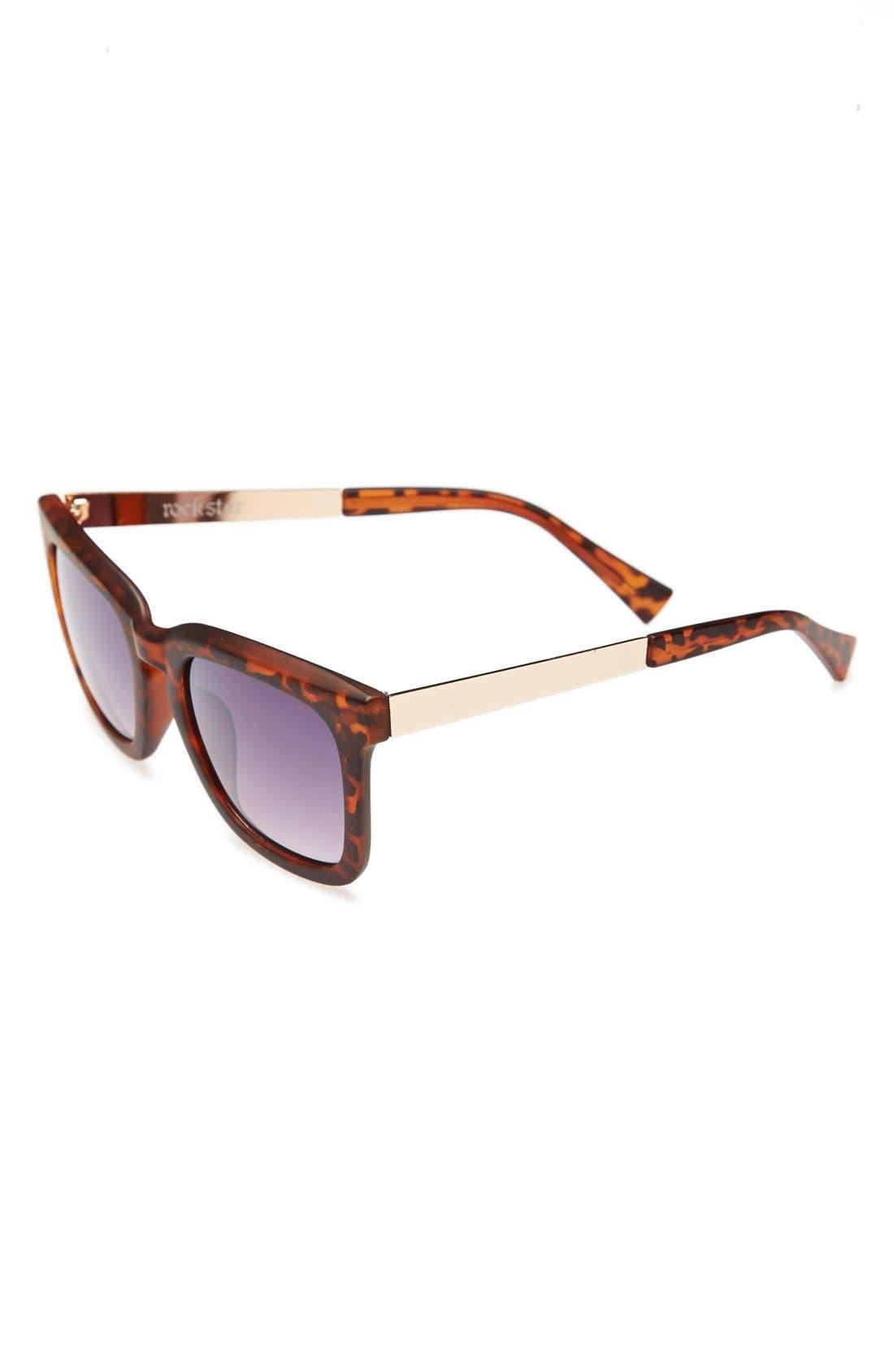 Main Image - BP. Oversized Tortoise Shell Sunglasses (Juniors)
