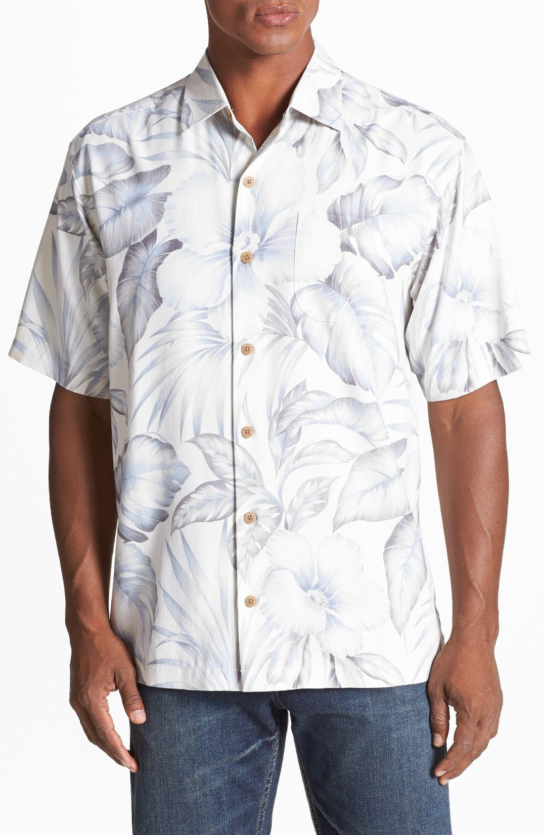Alternate Image 1 Selected - Tommy Bahama 'Gardens of Casablanca' Silk Campshirt
