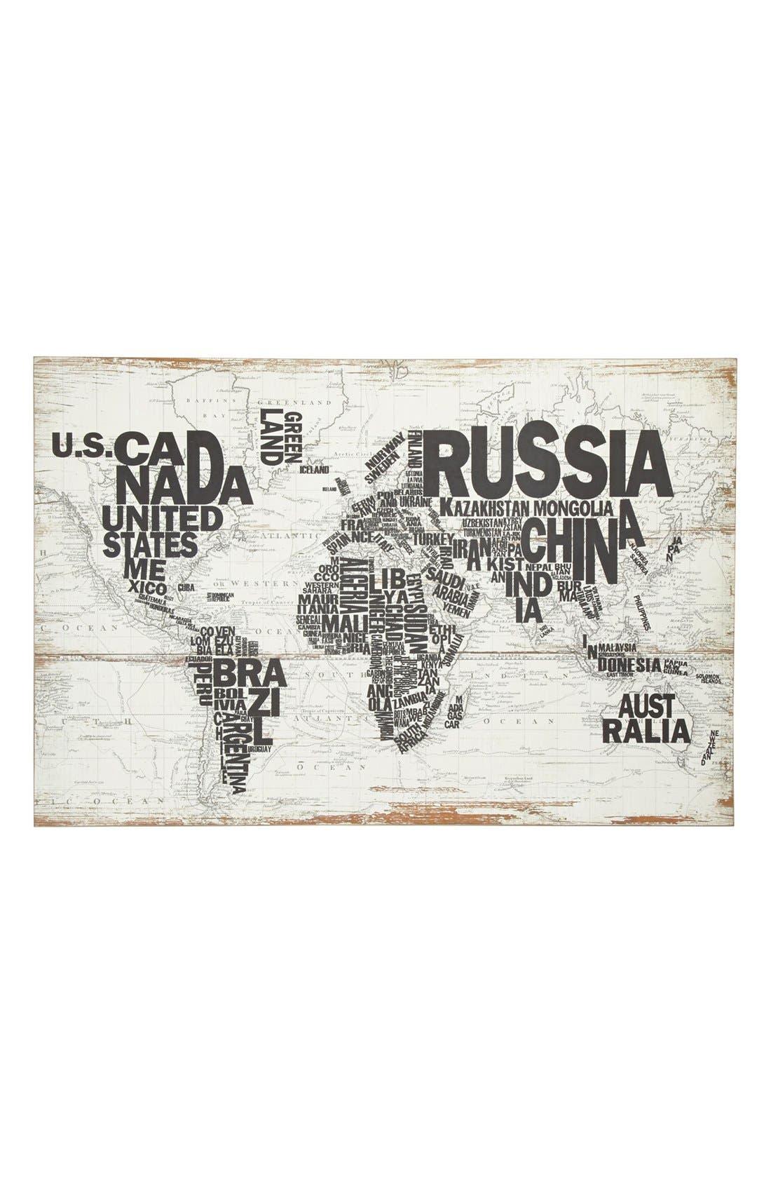 Main Image - World Map Wall Art