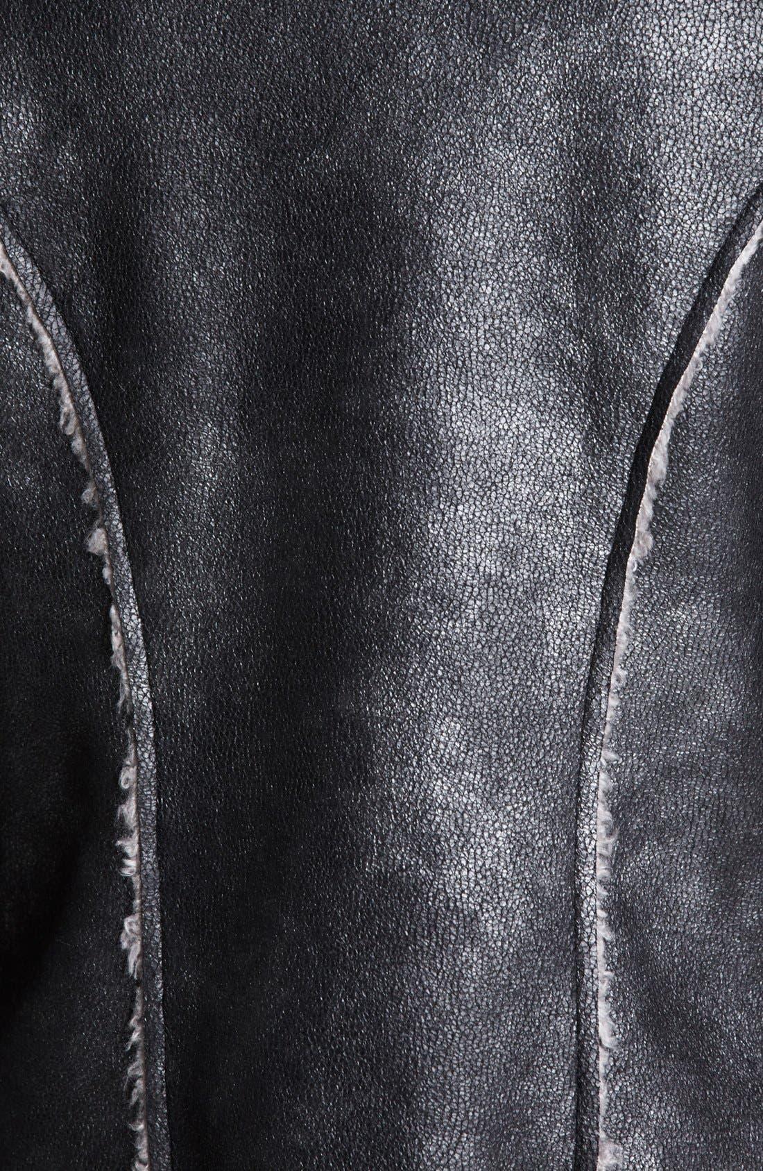Alternate Image 3  - Ella Moss Faux Shearling Moto Jacket