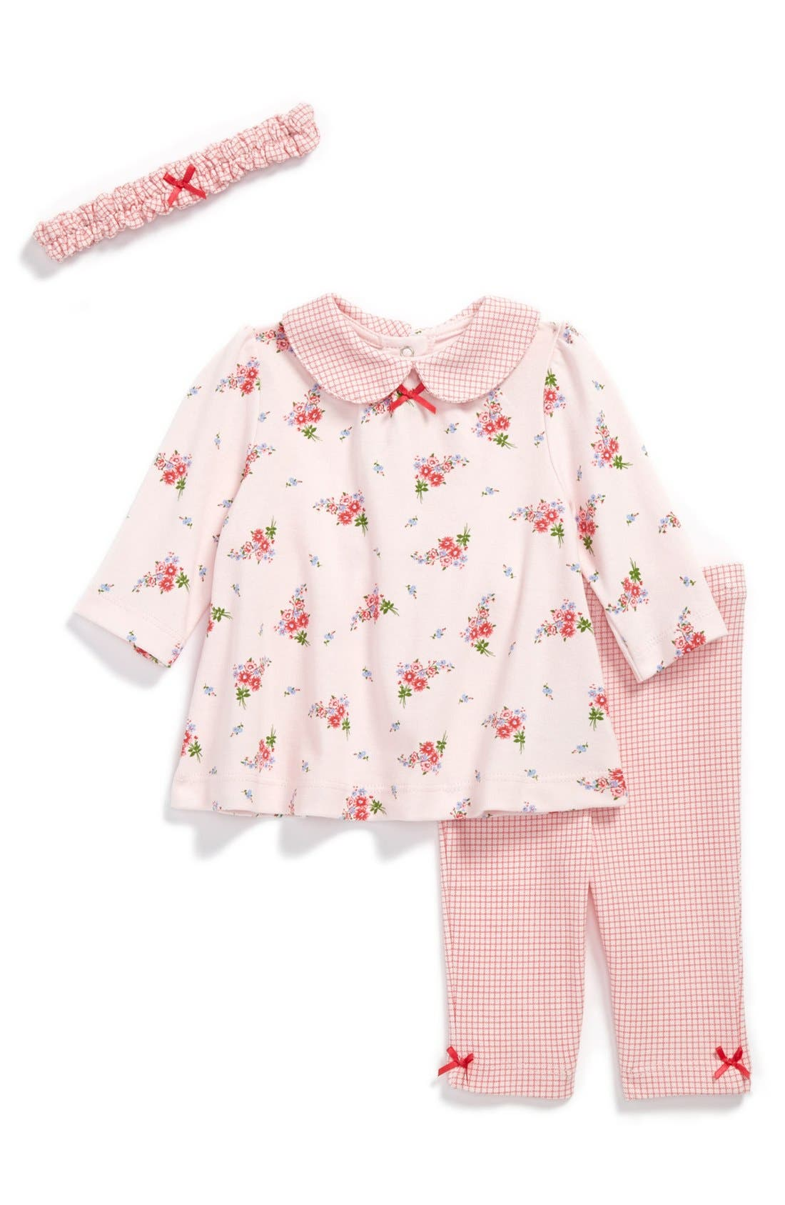 Alternate Image 1 Selected - Little Me 'Petite Posey' 3-Piece Set (Baby Girls)