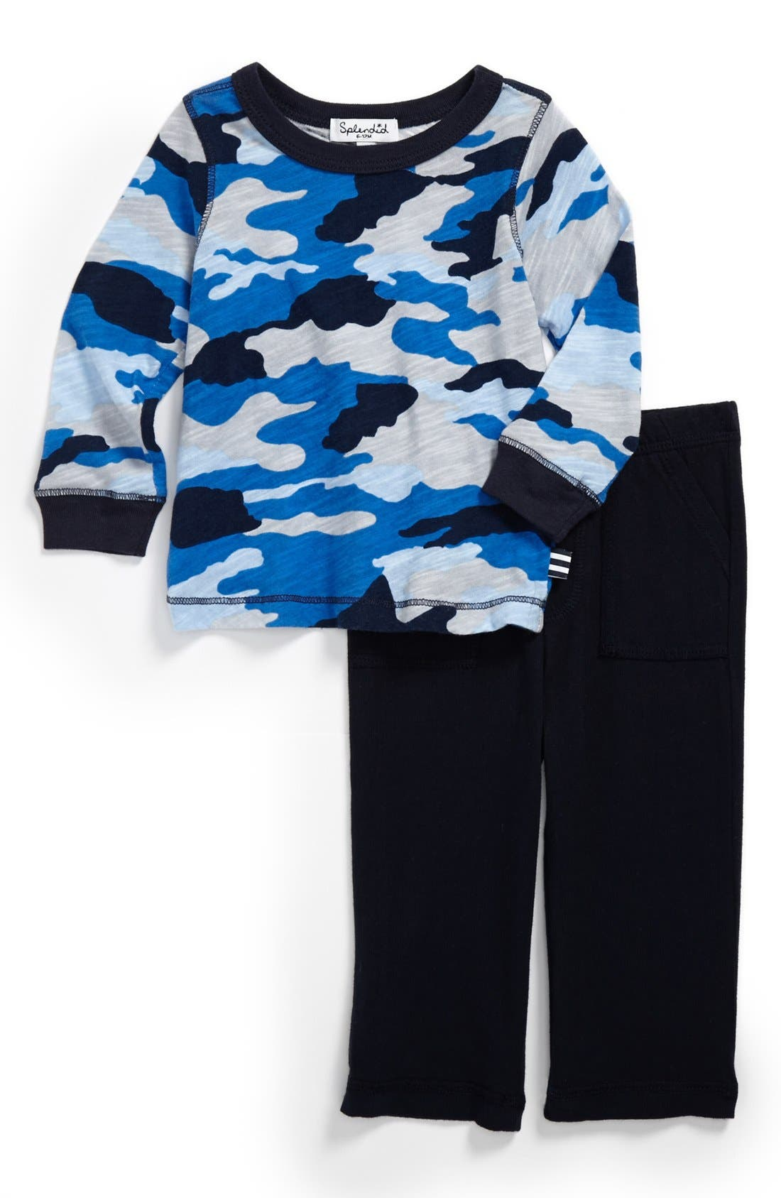 Main Image - Splendid 'Boot Camp Camo' Top & Pants (Baby Boys)