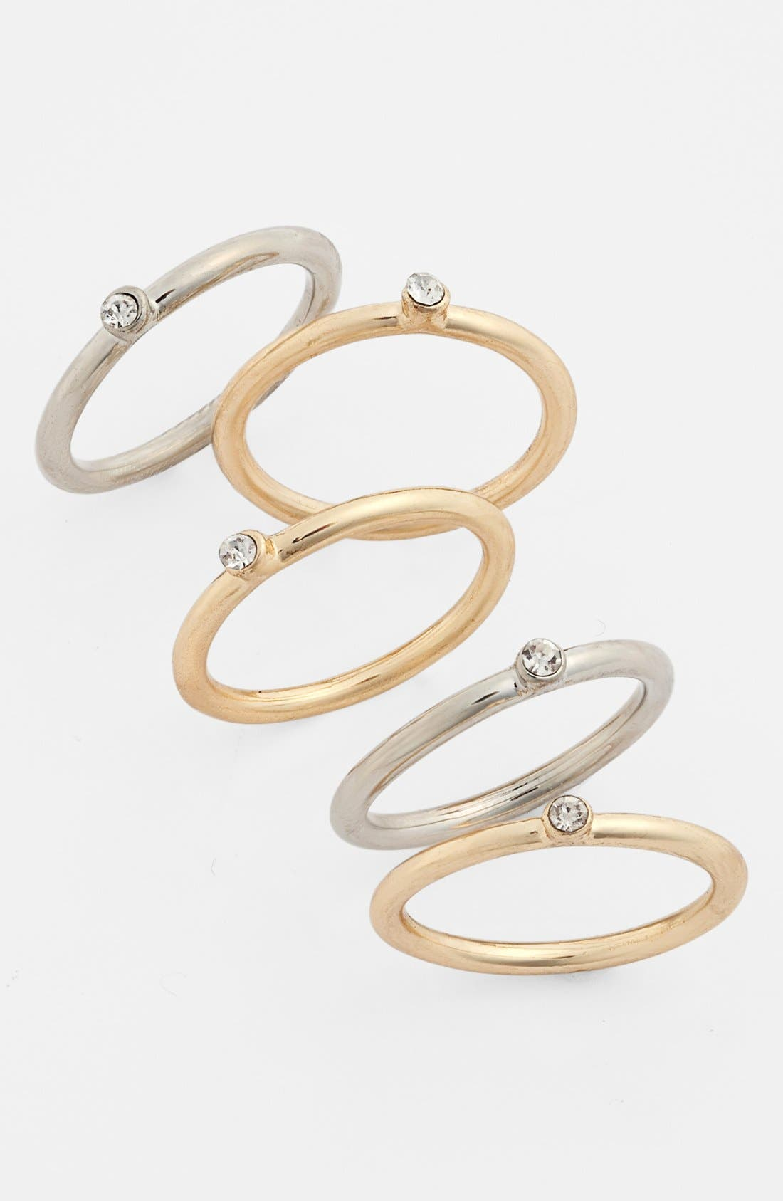 Main Image - BP. Stackable Rings (Set of 5) (Juniors)