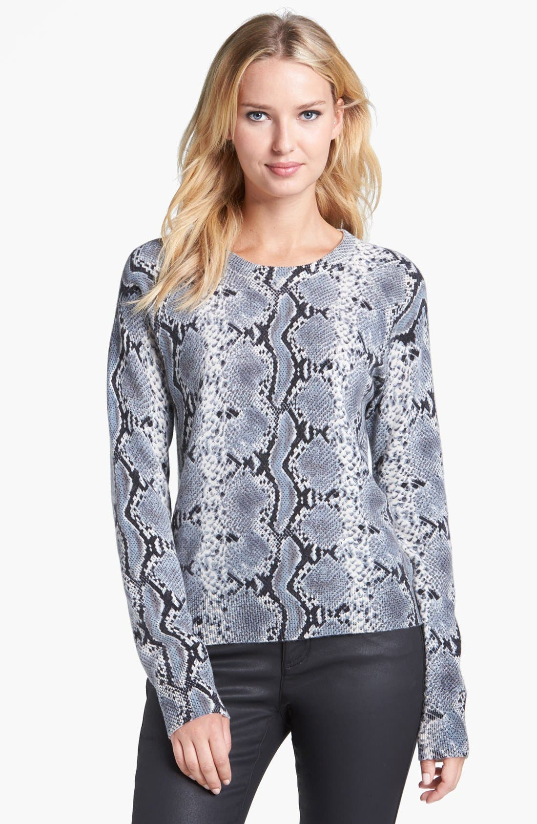 Alternate Image 1 Selected - Pure Amici Snake Print Cashmere Sweater