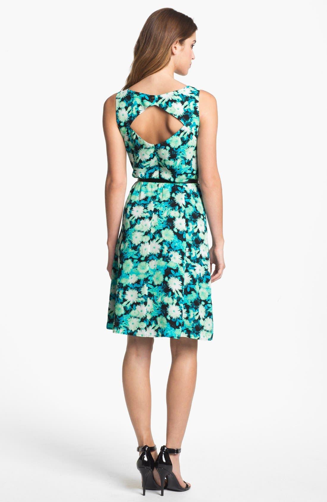 Alternate Image 2  - Halogen® Back Cutout Dress (Petite)