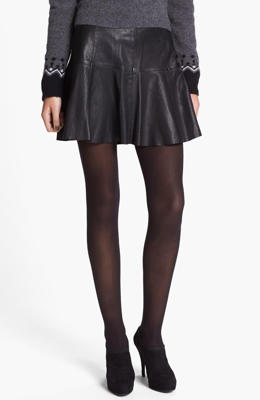 joie terina paneled leather skirt nordstrom