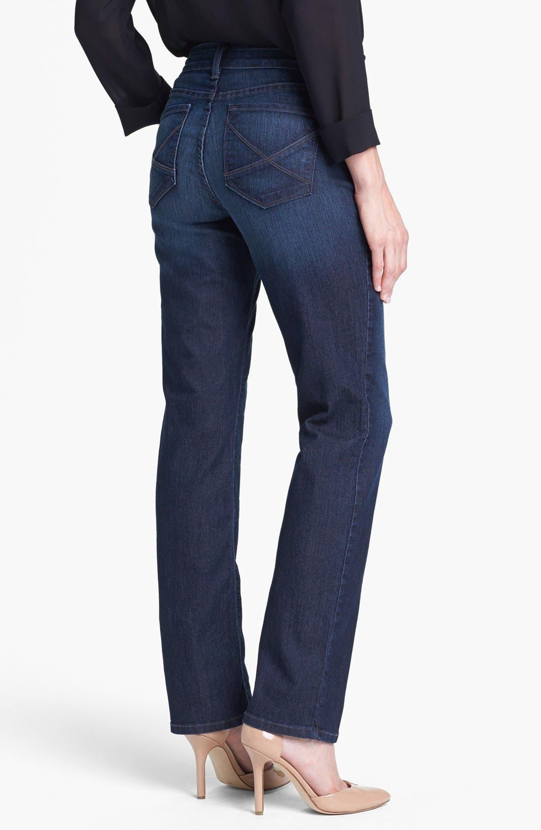 Alternate Image 3  - NYDJ 'Hayden' Stretch Straight Leg Jeans (Petite)
