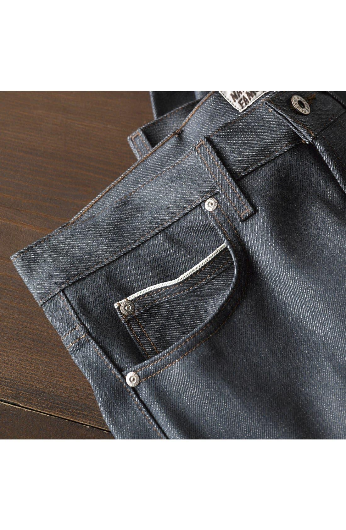 Alternate Image 5  - Naked & Famous Denim 'Skinny Guy' Skinny Fit Selvedge Jeans