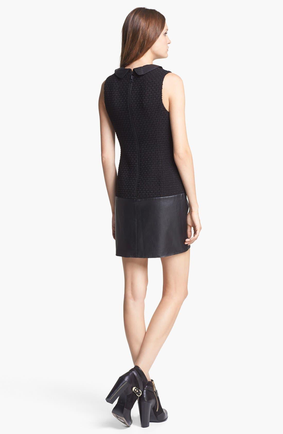 Alternate Image 2  - Rachel Zoe 'Dallas' Leather & Wool Blend Dress
