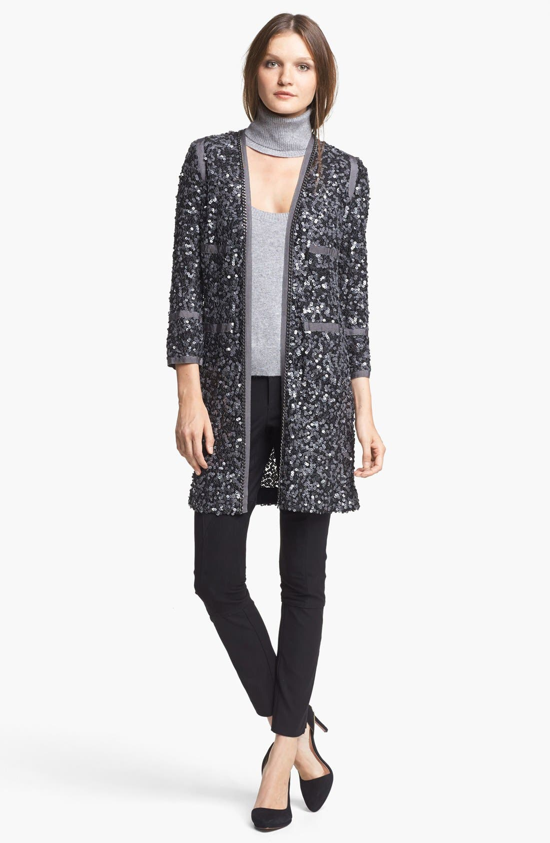 Alternate Image 4  - Rachel Zoe 'Paulie' Long Sequin Jacket