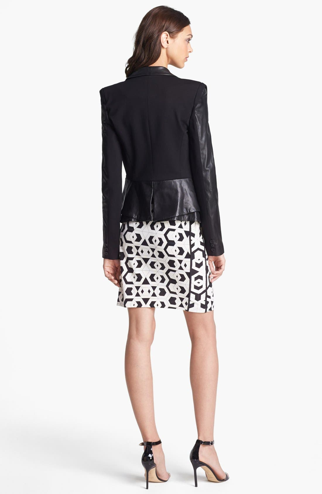 Alternate Image 2  - Rebecca Minkoff 'Rebecca' Leather & Knit Jacket