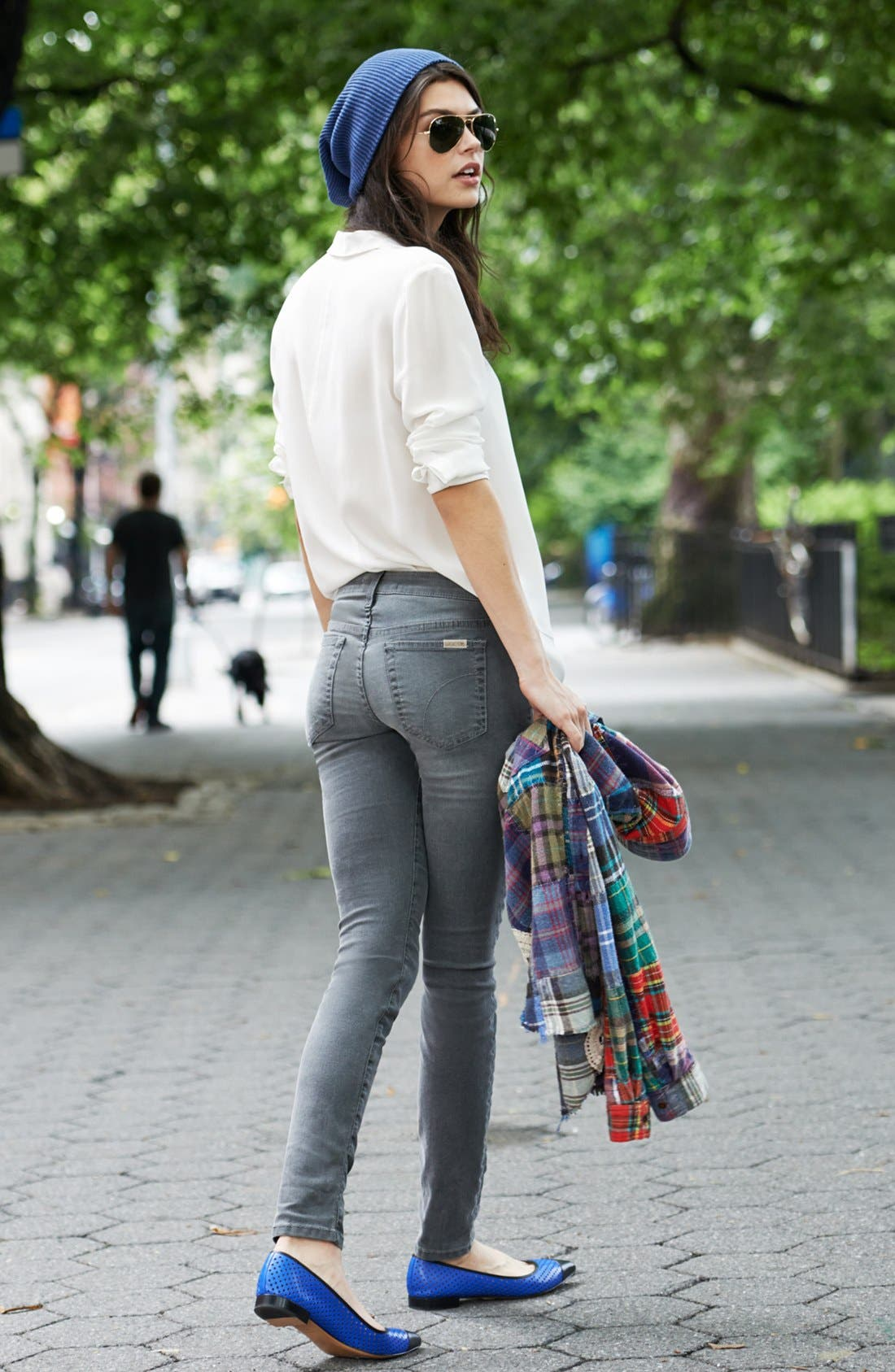 Alternate Image 5  - Joe's Skinny Ankle Jeans (Grey)
