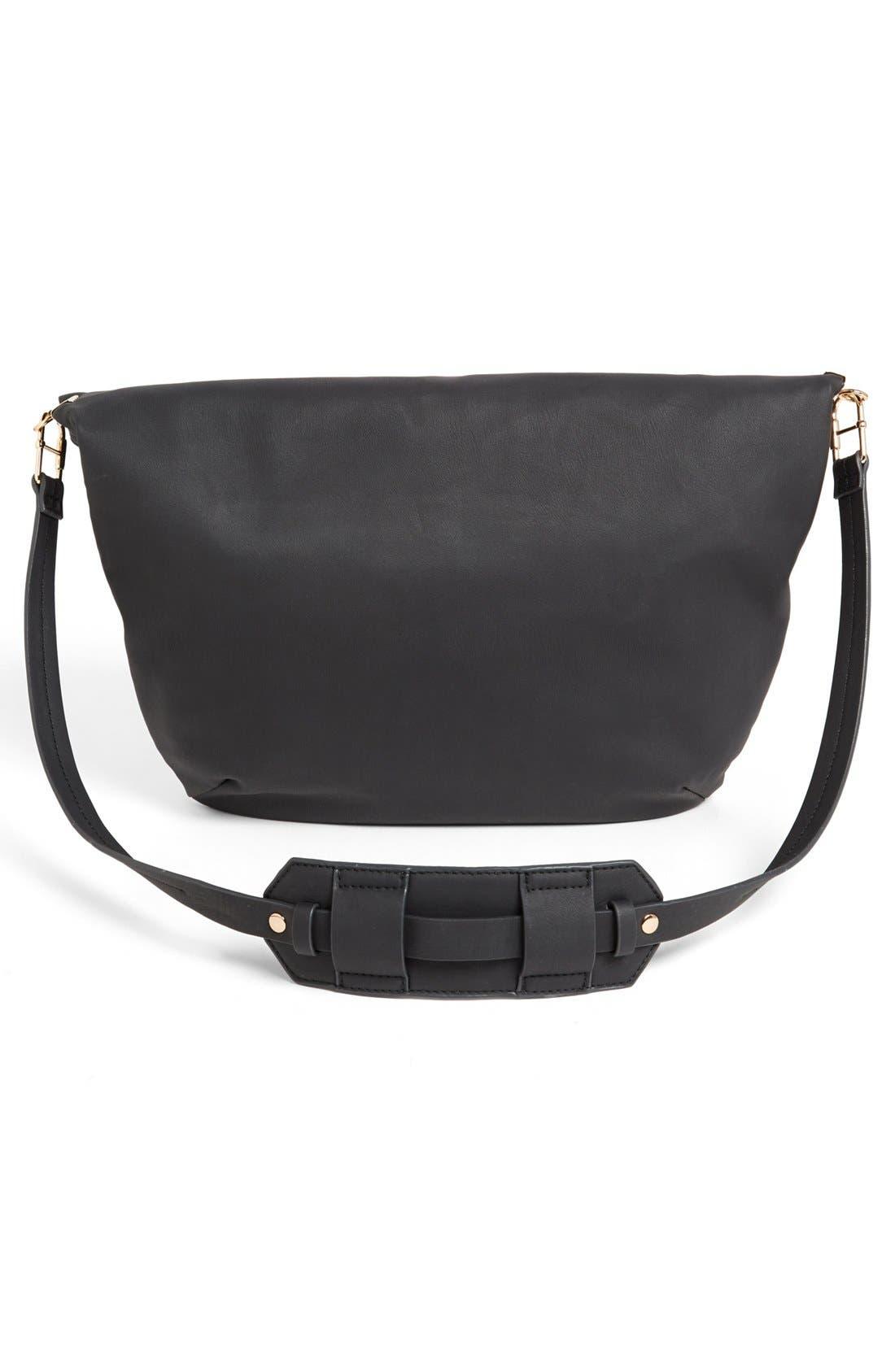 Alternate Image 4  - French Connection Faux Leather Shoulder Bag