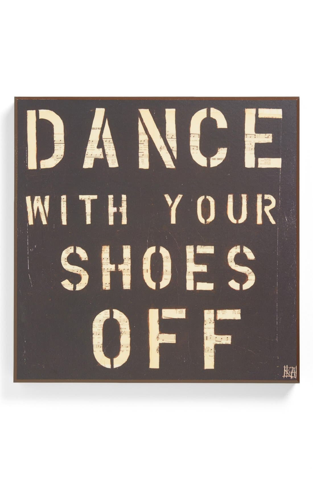 Main Image - Third and Wall Art 'Dance With Your Shoes Off' Wall Art