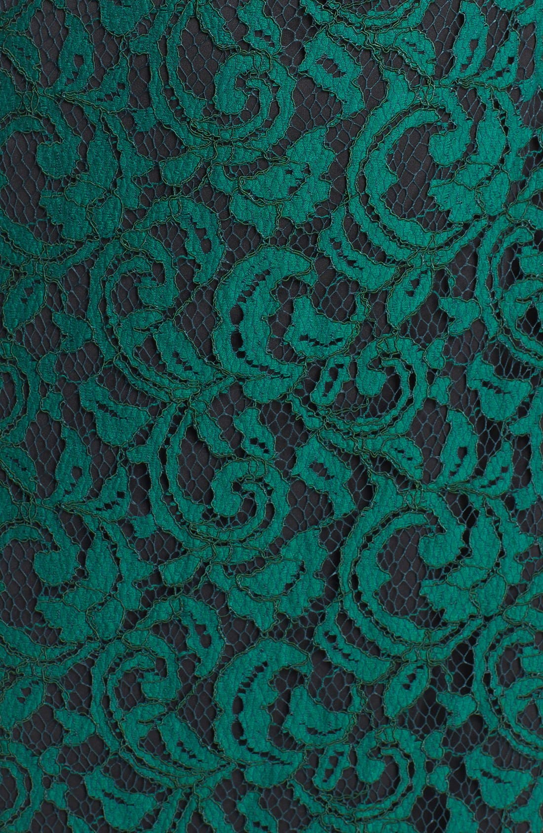 Alternate Image 3  - Tadashi Shoji Illusion Yoke Lace Sheath Dress