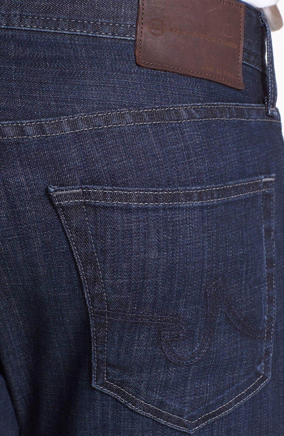 Alternate Image 4  - AG 'Matchbox' Slim Fit Jeans (Bunker)